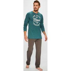 Tom Tailor Denim - Piżama. Szare piżamy męskie TOM TAILOR DENIM, z nadrukiem, z bawełny. Za 169,90 zł.