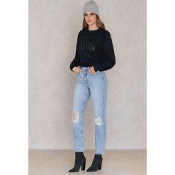 Spodnie damskie: NA-KD Trend Dżinsy Connor - Blue