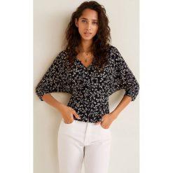 Mango - Bluzka Rina. Szare bluzki z odkrytymi ramionami marki Mango, l, z tkaniny, casualowe. Za 119,90 zł.