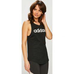 Adidas Performance - Top. Różowe topy damskie marki adidas Performance, m, z nadrukiem, z bawełny, z okrągłym kołnierzem. Za 79,90 zł.