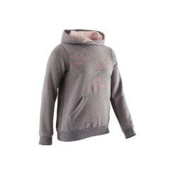 Bluza 500 Gym. Szare bluzy dziewczęce rozpinane DOMYOS, z kapturem. Za 39,99 zł.