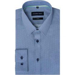 Koszula SIMONE slim KDNS000303. Szare koszule męskie na spinki Giacomo Conti, m, w geometryczne wzory, z bawełny, z klasycznym kołnierzykiem. Za 259,00 zł.