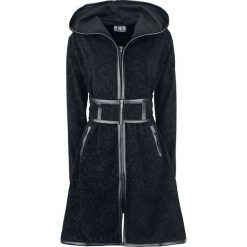 Innocent Dark Sense Coat Płaszcz damski czarny. Niebieskie płaszcze damskie marki Innocent, xl, w ażurowe wzory, z materiału, z dekoltem na plecach. Za 244,90 zł.