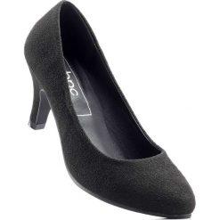 Czółenka bonprix czarny. Czarne buty ślubne damskie bonprix, na obcasie. Za 74,99 zł.