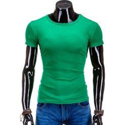 T-shirty męskie: T-SHIRT MĘSKI BEZ NADRUKU S606 – ZIELONY