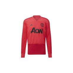 T-shirty z długim rękawem adidas  Bluza treningowa Manchester United. Czerwone bluzy męskie rozpinane marki KALENJI, m, z elastanu, z długim rękawem, długie. Za 279,00 zł.
