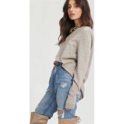Beżowy Sweter Fling the Rules. Zielone swetry klasyczne damskie marki other, l, prążkowane. Za 59,99 zł.