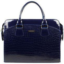Grosso Bag Torebka Damska Ciemnoniebieski. Niebieskie torebki klasyczne damskie Grosso Bag, ze skóry. Za 195,00 zł.