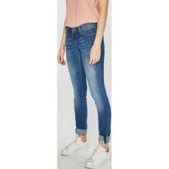 Only - Jeansy Coral. Szare jeansy damskie rurki marki ONLY, s, z bawełny, casualowe, z okrągłym kołnierzem. Za 169,90 zł.
