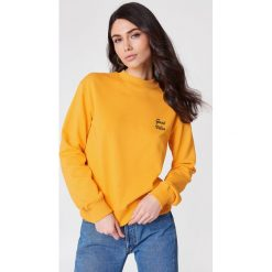 Bluzy damskie: NA-KD Urban Bluza Good Vibes - Orange
