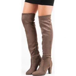 WYSOKIE KOZAKI MUSZKIETERKI. Brązowe buty zimowe damskie SUPER ME, na wysokim obcasie. Za 114,00 zł.