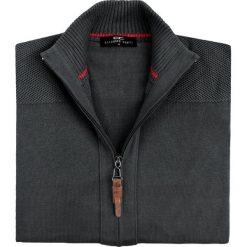 Sweter LINO SWS000080. Brązowe swetry rozpinane męskie Giacomo Conti, m, z bawełny, wizytowe, ze stójką. Za 229,00 zł.
