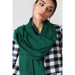 Szaliki damskie: NA-KD Accessories Tkany szalik – Green