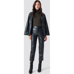 Spodnie damskie: NA-KD Trend Spodnie PU - Black