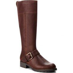Oficerki CLARKS - Orinoco Jazz 261381954 Tan Warmlined Leather. Brązowe buty zimowe damskie marki Clarks, ze skóry. W wyprzedaży za 439,00 zł.
