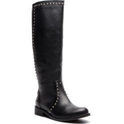 Oficerki KAZAR - Marlena 34684-01-00 Black. Czarne buty zimowe damskie Kazar, ze skóry, na wysokim obcasie. Za 999,00 zł.