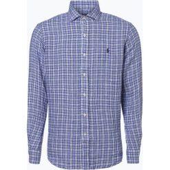 Polo Ralph Lauren - Męska koszula lniana, niebieski. Niebieskie koszule męskie na spinki Polo Ralph Lauren, l, z tkaniny, polo. Za 329,95 zł.