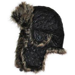Czapki damskie: Art of Polo Czapka damska Uszanka Ferie zimowe czarno-szara