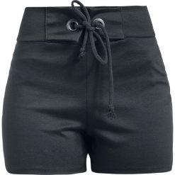 Bermudy damskie: Outer Vision Cloe High Waist Short Krótkie spodenki damskie czarny