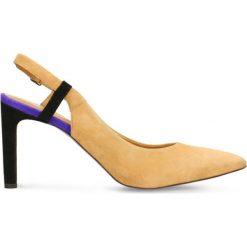 Czółenka SAVONA. Brązowe buty ślubne damskie Gino Rossi, ze skóry, na obcasie. Za 129,90 zł.
