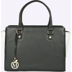 Manzana - Torebka. Szare torebki klasyczne damskie marki Manzana, z materiału, duże. W wyprzedaży za 79,90 zł.