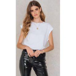 T-shirty damskie: Rut&Circle T-shirt Jinni roll-up – White