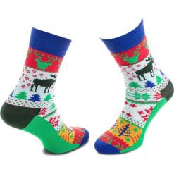 Skarpety Wysokie Unisex HAPPY SOCKS - FAI01-7000 Kolorowy Zielony. Zielone skarpetki damskie marki Happy Socks, w kolorowe wzory, z bawełny. Za 34,90 zł.