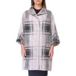 Płaszcz damski 83-9W-100-P. Czarne płaszcze damskie marki Wittchen, w kratkę, z wełny, eleganckie. Za 399,00 zł.