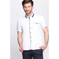 Koszule męskie na spinki: Biała Koszula Burning Mind