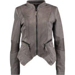 Bomberki damskie: Be Edgy AVA Kurtka jeansowa light grey