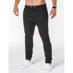 SPODNIE MĘSKIE JOGGERY P713 - CZARNE. Czarne joggery męskie Ombre Clothing. Za 59,00 zł.