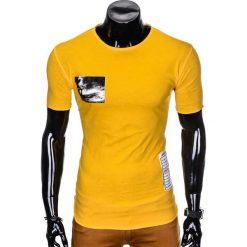 T-SHIRT MĘSKI Z NADRUKIEM S983 - ŻÓŁTY. Żółte t-shirty męskie z nadrukiem Ombre Clothing, m. Za 29,00 zł.