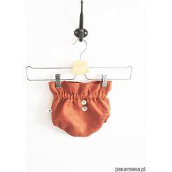 LEN bloomersy berry. Brązowe spodnie niemowlęce marki Pakamera, ze lnu. Za 67,00 zł.