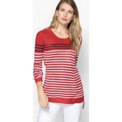 Kardigany damskie: Marynarski sweter w paski