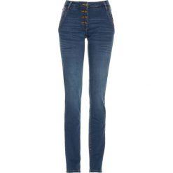 """Dżinsy Premium z ozdobnymi guzikami bonprix niebieski """"stone"""". Niebieskie jeansy damskie bonprix. Za 99,99 zł."""