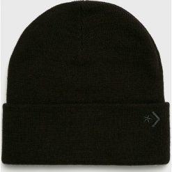 Converse - Czapka. Czarne czapki zimowe męskie marki Converse, na zimę, z dzianiny. Za 89,90 zł.
