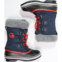 Sorel YOOT PAC  Śniegowce collegiate. Niebieskie buty zimowe chłopięce Sorel, z materiału. W wyprzedaży za 239,25 zł.