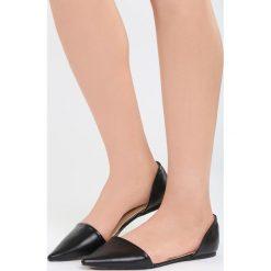 Baleriny damskie lakierowane: Czarne Balerinki Black Swan