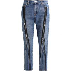 Topshop B&B ZIP FRONT Jeansy Slim Fit blue. Niebieskie jeansy damskie marki Topshop, z bawełny. W wyprzedaży za 173,40 zł.
