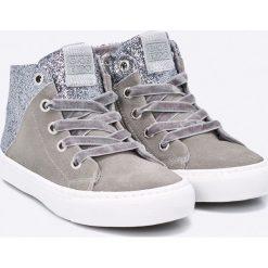 Gioseppo - Trampki dziecięce. Szare buty sportowe dziewczęce Gioseppo, z gumy, z okrągłym noskiem, na sznurówki. W wyprzedaży za 129,90 zł.