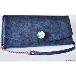 Torebki klasyczne damskie: torebka z błękitną hortensją