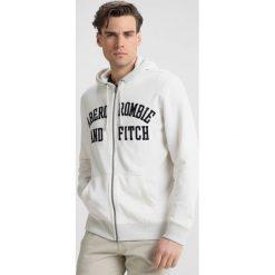 Abercrombie & Fitch CORE LOGO FULLZIP Bluza rozpinana offwhite. Białe bluzy męskie rozpinane Abercrombie & Fitch, m, z bawełny. Za 389,00 zł.