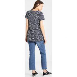 T-shirty damskie: JoJo Maman Bébé FLORAL PEPLUM Tshirt z nadrukiem navy