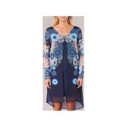 Sukienki krótkie Desigual  GROFU. Szare sukienki mini marki Desigual, l, z tkaniny, casualowe, z długim rękawem. Za 285,35 zł.