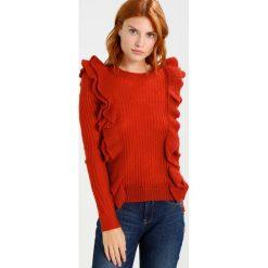 Swetry klasyczne damskie: YAS YASLUCIA Sweter red ochre