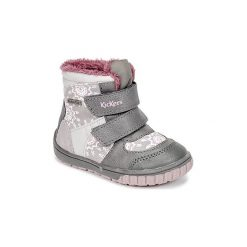 Śniegowce Dziecko Kickers  SITROUILLE WPF. Niebieskie kozaki dziewczęce marki Kickers, z kauczuku, na sznurówki. Za 269,10 zł.