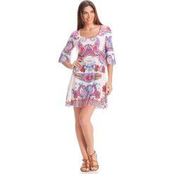 Sukienki hiszpanki: Sukienka w kolorze białym ze wzorem