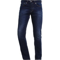 Jeansy męskie regular: Topman Jeansy Slim Fit dark blue