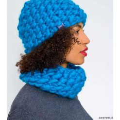 Czapki zimowe damskie: Komplet czapka komin z wełny merynosów merino