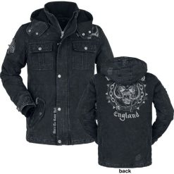 Motörhead EMP Signature Collection Kurtka ciemnoszary. Szare kurtki męskie bomber Motörhead, na zimę, m, z aplikacjami, z jeansu. Za 599,90 zł.